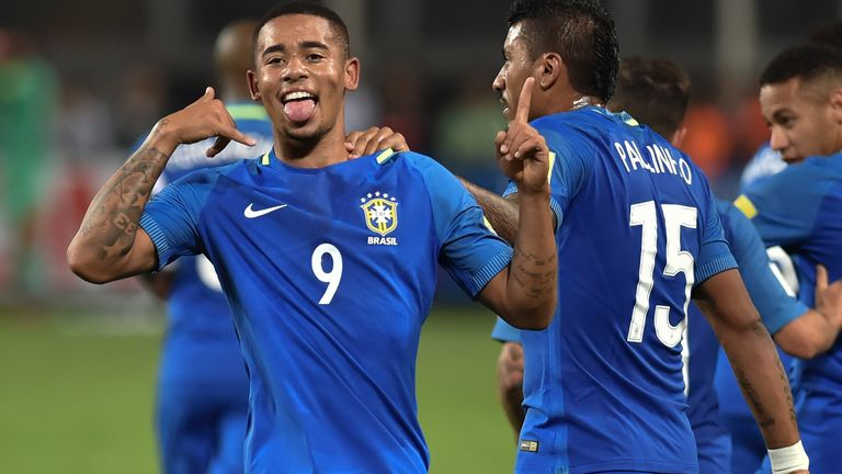 Image result for gabriel jesus celebrate