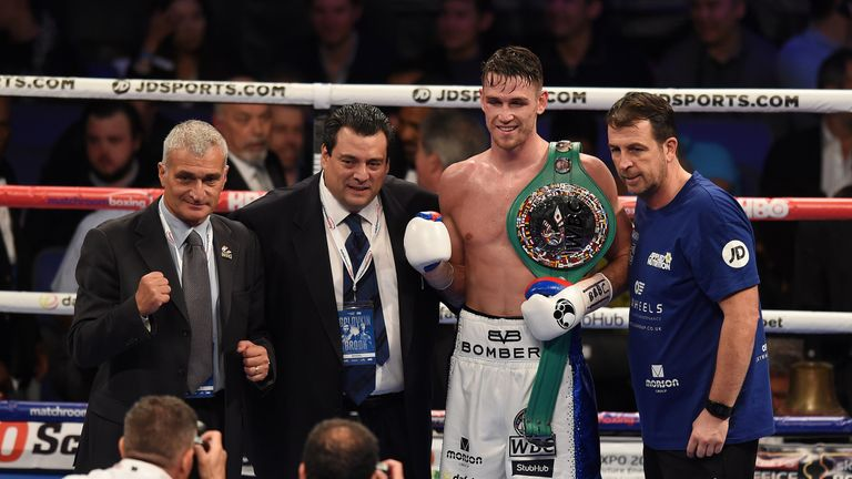 Mauricio Sulaiman (left) has promised Callum Smith a world title fight