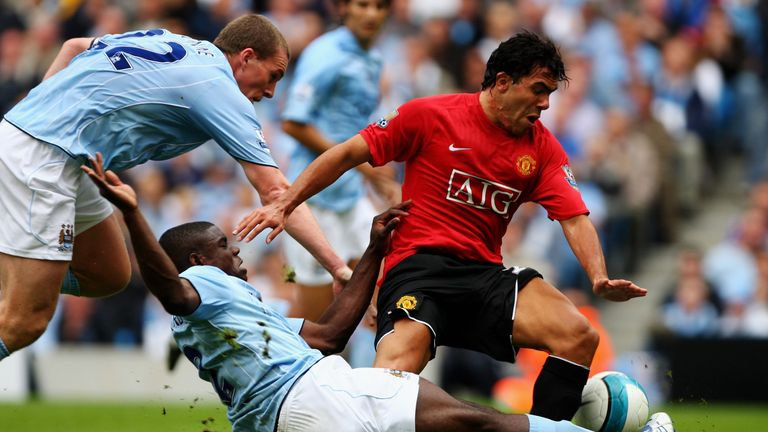 Richards won praise for his defensive performance against Man Utd's Carlos Tevez