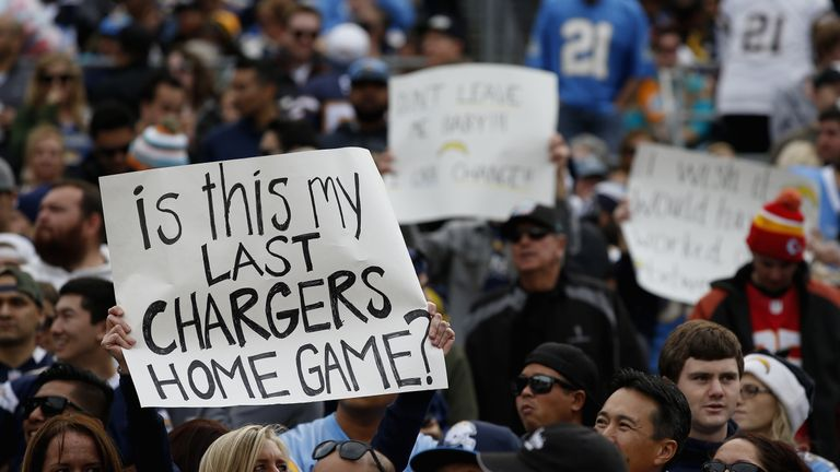 San Diego Chargers fans will be without a team, after the organisation announced it was moving to Los Angeles