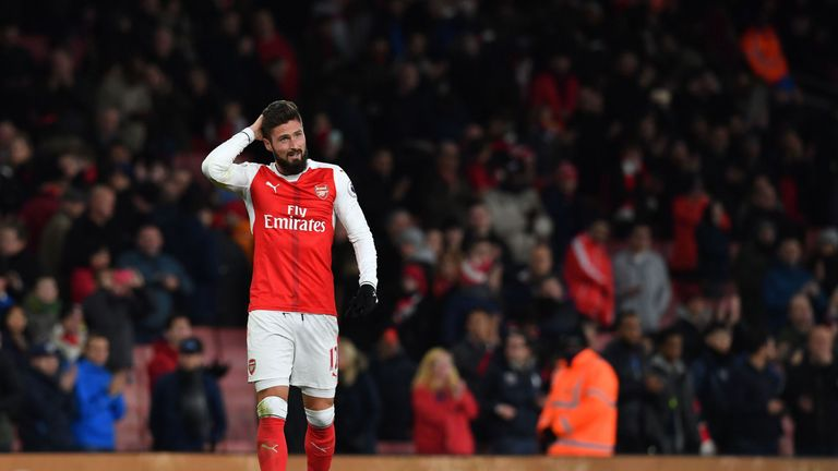 Olivier Giroud is not fit to play this weekend