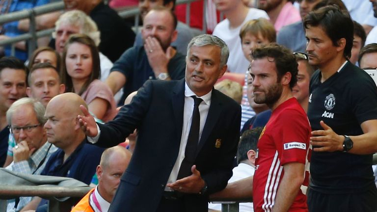 Juan Mata (right) has been a key player for Mourinho at Manchester United