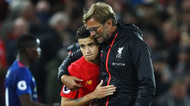 Image result for Philippe Coutinho klopp