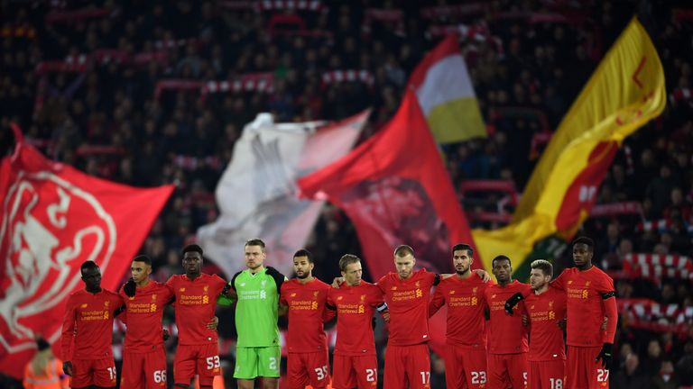 Liverpool paid to the victims of the plane crash involving Brazilian club Chapecoense ahead of their EFL Cup tie against Leeds