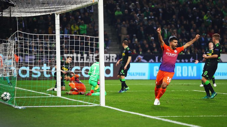 David Silva scored for Man City as they reached the last 16 of the Champions League