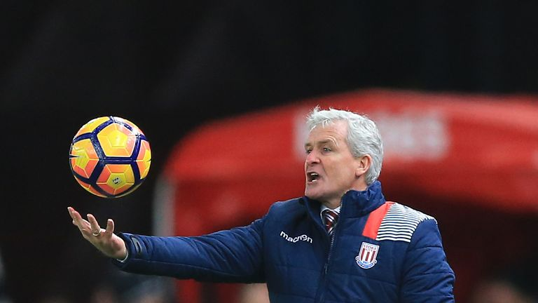 Hughes responded with humour when asked about Ottmar Hitzfeld's comments