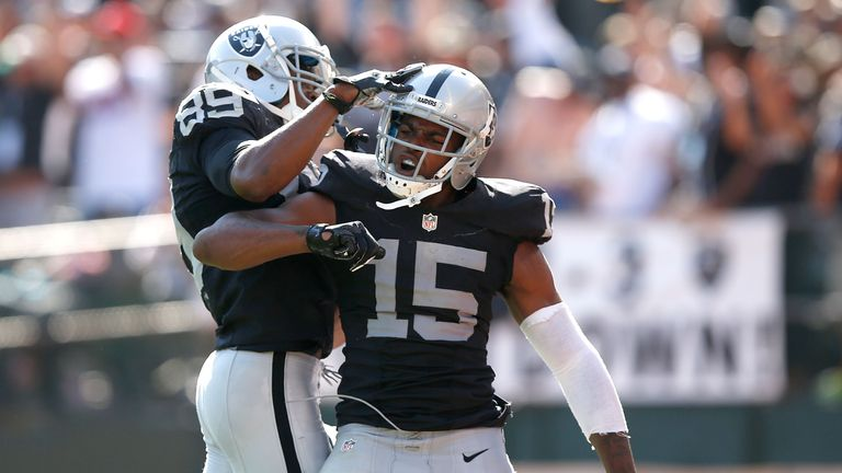 Michael Crabtree caught 25 touchdowns in three seasons with the Oakland Raiders