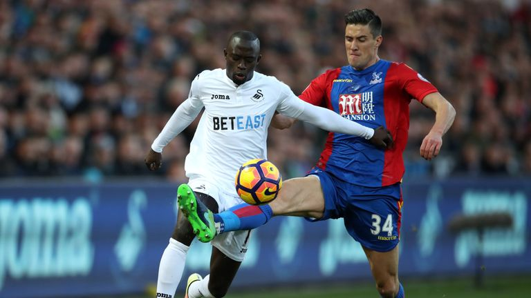 Modou Barrow has been one few Swansea players to impress this season