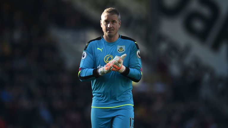 Paul Robinson looks set to start again in goal for Burnley