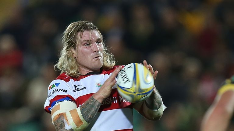 Gloucester's Richard Hibbard in action