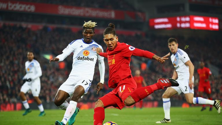 Roberto Firmino has scored six goals in 14 appearances for Liverpool this season