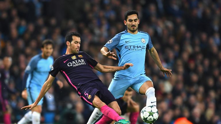 Manchester City hassled Busquets in possession and were successful in disrupting his play