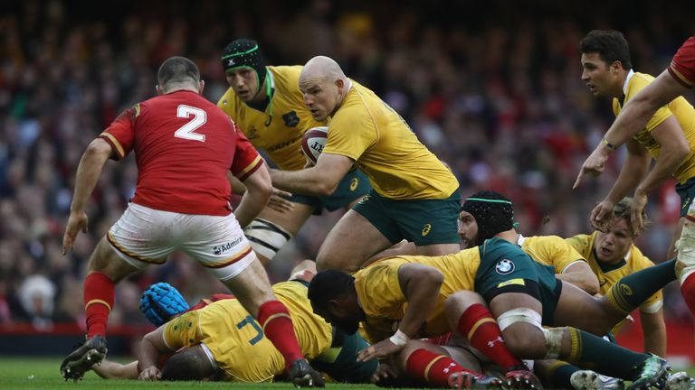 Captain Stephen Moore will become Australia's second most-capped player