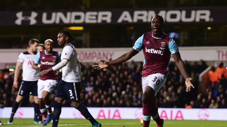 Michail Antonio scores the opener for West Ham
