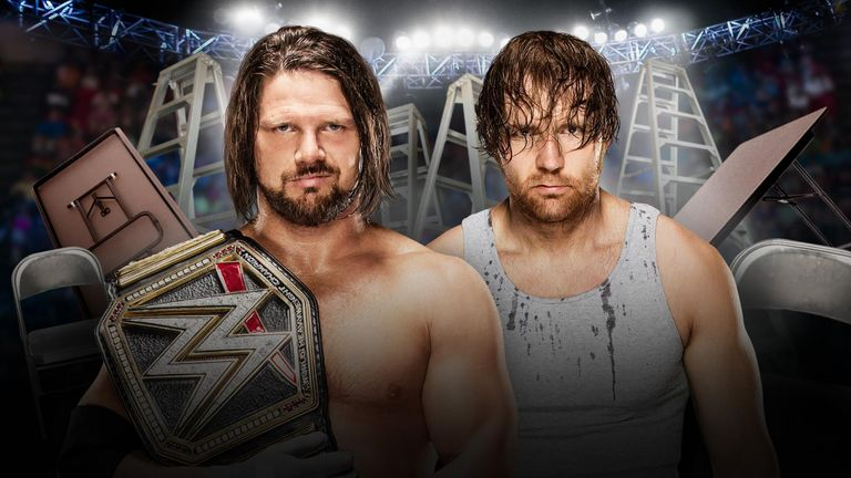 AJ Styles will defend his belt against Dean Ambrose in a TLC Match on Sunday