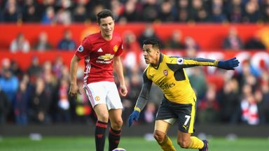Alexis Sanchez played the full 90 minutes for Arsenal at Manchester United