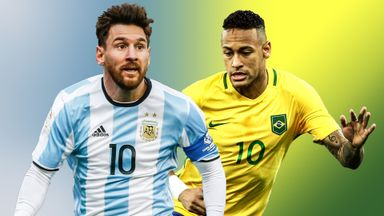Lionel Messi and Neymar are experiencing very different qualifying campaigns with their countries