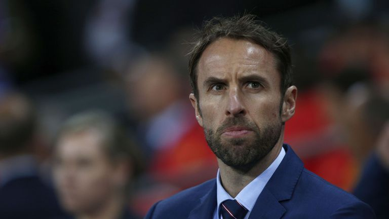England's Interim manager Gareth Southgate watches his players