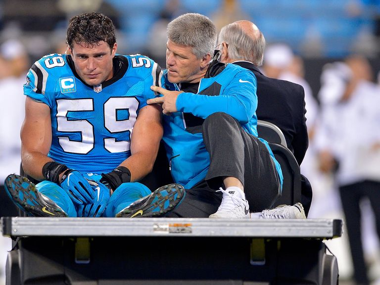 Panthers Fans, Teammates Show Support for Injured Luke Kuechly