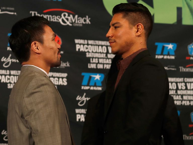 Manny Pacquiao and Jessie Vargas will fight on Saturday November 5 in Las Vegas