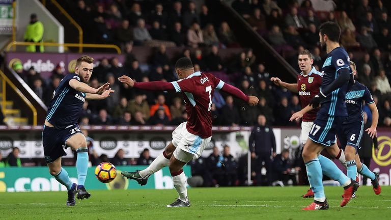Andre Gray scored the decisive goal for Burnley against Boro