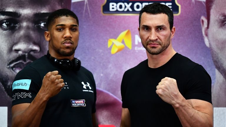 Joshua is preparing for Wembley fight with Klitschko on April 29, live on Sky Sports Box Office