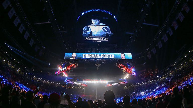 The iconic Barclays Center in Brooklyn hosts the welterweight contest