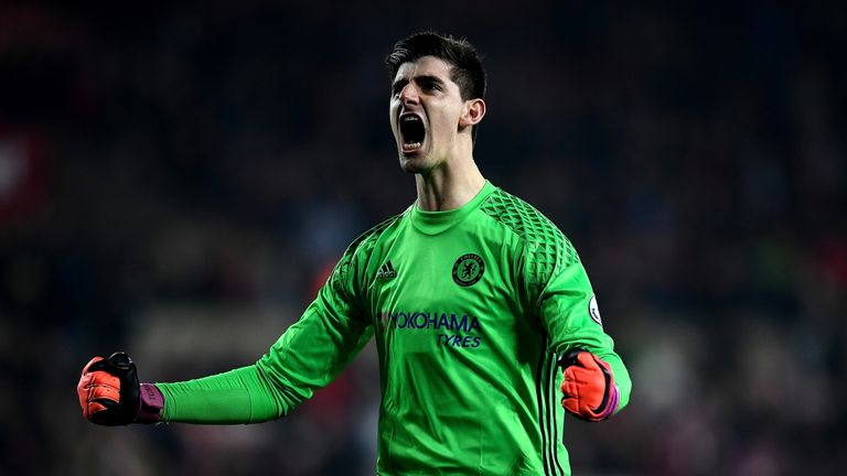 Courtois believes Costa remained calm despite being kicked