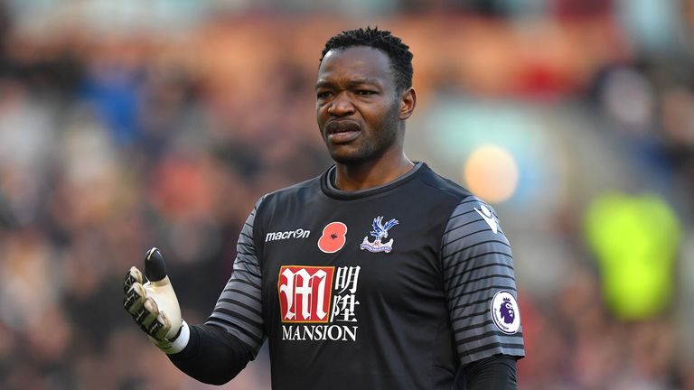 Mandanda has made 10 appearances for the Eagles this term