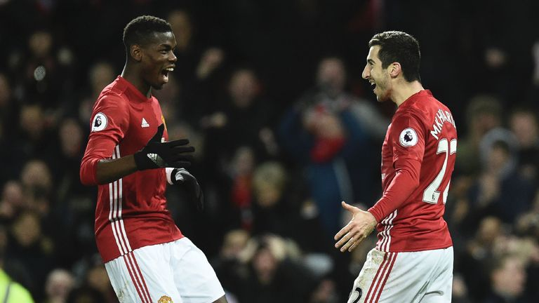 Henrikh Mkhitaryan and Paul Pogba joined United last summer