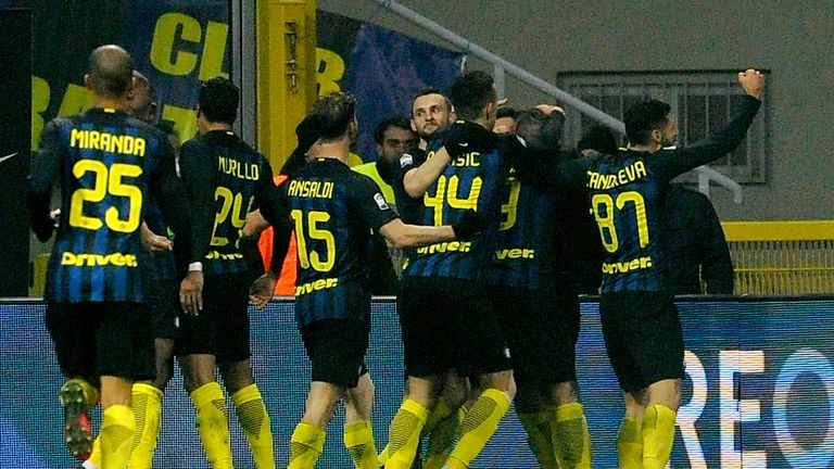 Inter Milan are now just four points behind Lazio in Serie A