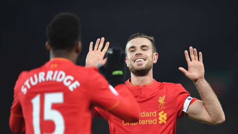 Daniel Sturridge and Jordan Henderson could both miss Liverpool's game against Burnley on Sunday