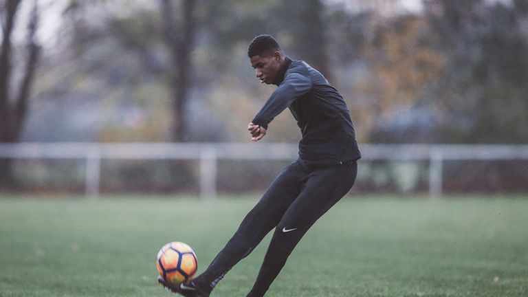 Rashford hones his finishing skills in Nike Football Training apparel