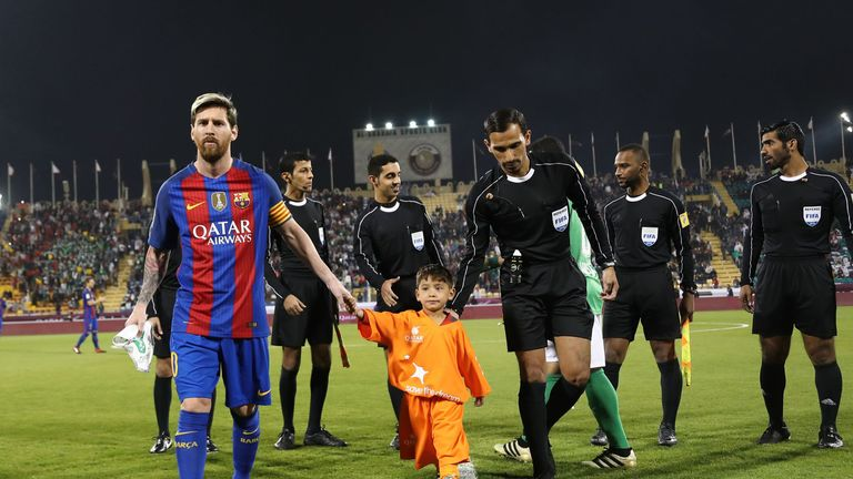 Image result for How Six-Year-Old Afghan Boy Murtaza Ahmadi Finally Met His 'Hero' Lionel Messi