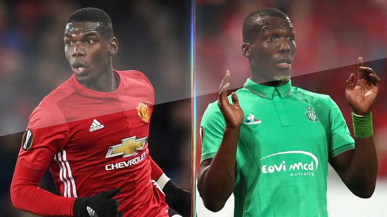 Paul Pogba could line up against brother Florentin for the first time in his career on Thursday