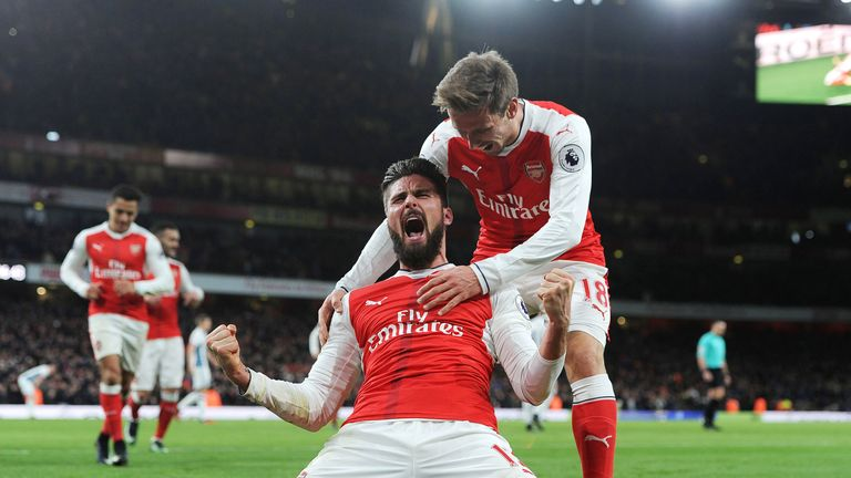 Olivier Giroud headed home the winner for Arsenal
