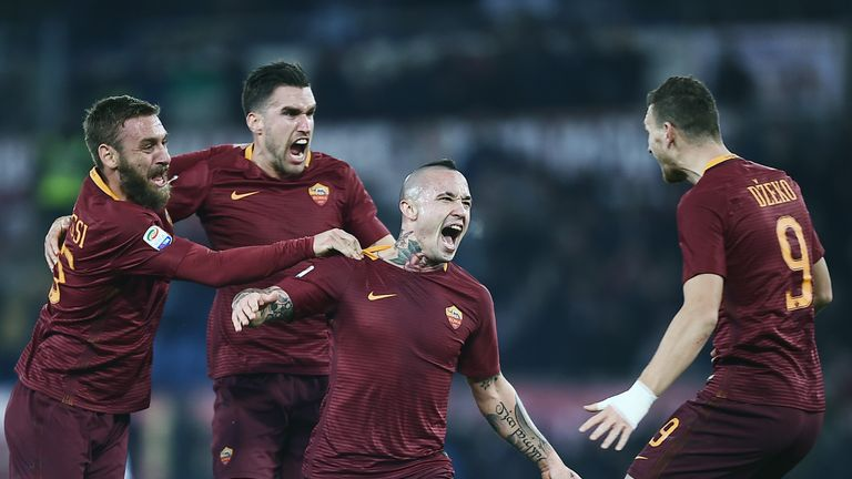 Image result for nainggolan goal as roma sampdoria