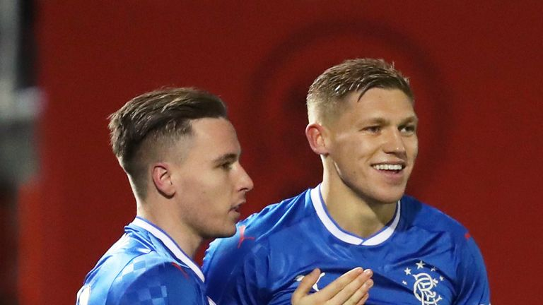 Rangers' Martyn Waghorn was on the scoresheet against Hamilton