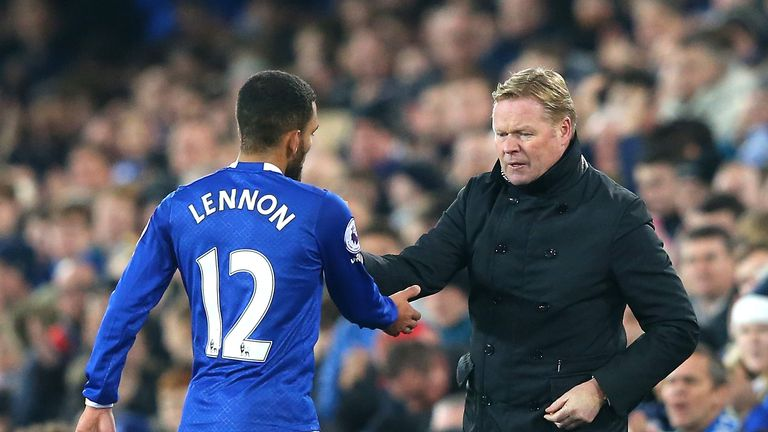 Ronald Koeman has overlooked the likes of Aaron Lennon to adopt a new system