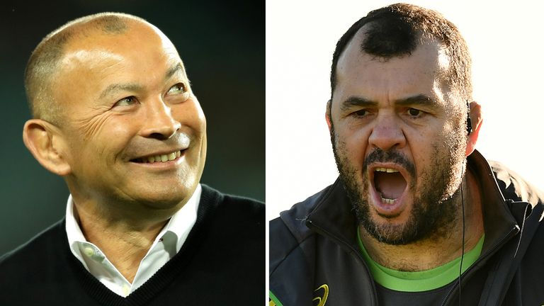 Former team-mates Eddie Jones and Michael Cheika renew hostilities at Twickenham on Saturday