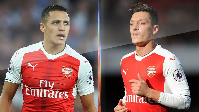 Alexis Sanchez and Mesut Ozil are yet to sign fresh terms to stay at Arsenal