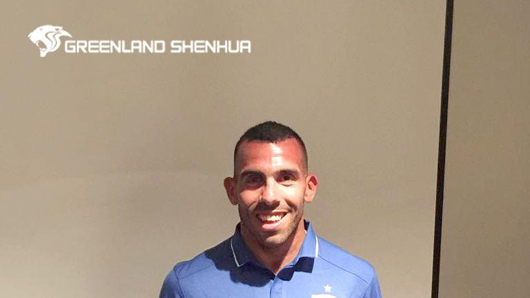 Carlos Tevez signed for Shanghai Shenhua