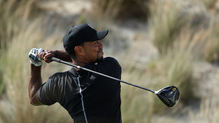 Tiger Woods was tied for the lead on four under after eight holes before letting it slip on the back nine