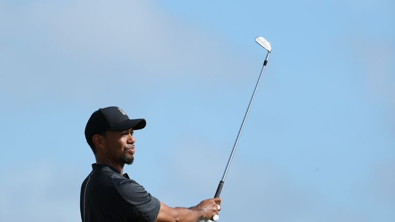 Woods looked in good shape with his irons, but he paid the price for a number of wayward drives