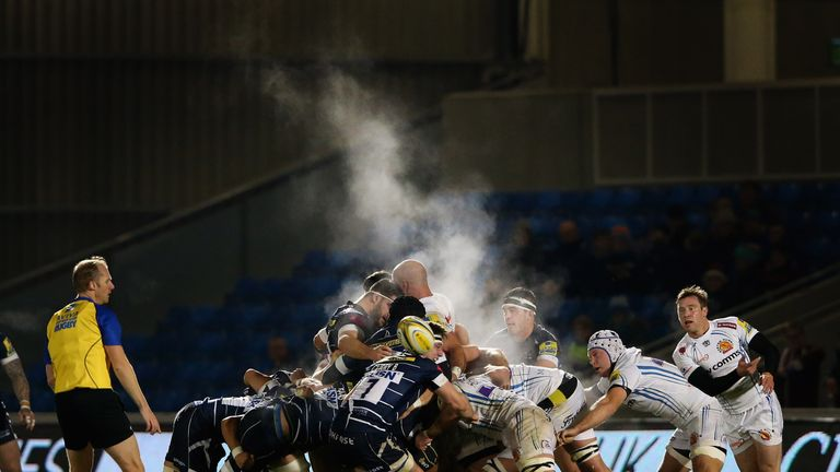 Will Chudley releases the Chiefs backs from a scrum