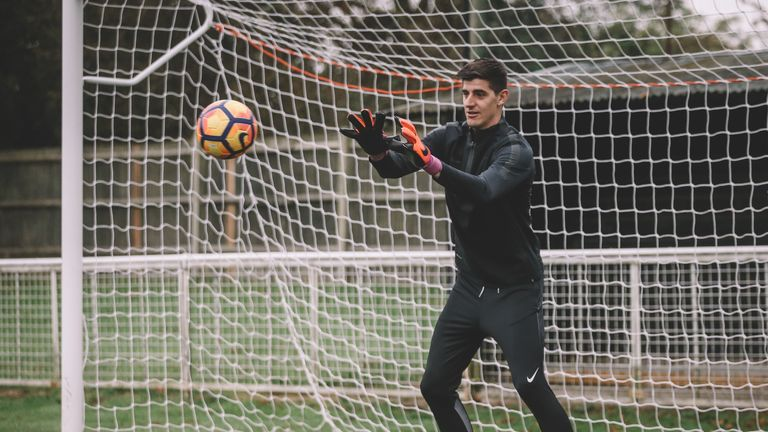Thibaut Courtois honing his skills in Nike Football's Training Apparel