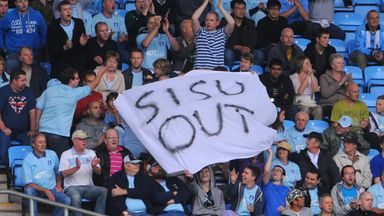 Coventry City fans protest against owners Sisu