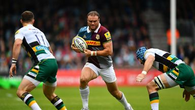 Jamie Roberts returns for Harlequins' trip to Newcastle on Sunday