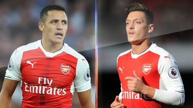Alexis Sanchez and Mesut Ozil are yet to sign new deals to stay at Arsenal beyond 2018