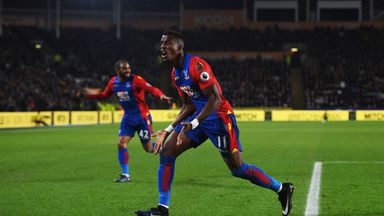 Wilfried Zaha puts Crystal Palace in front